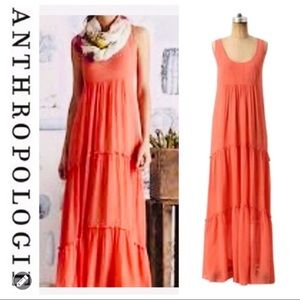 🌟CLOSET CLOSING🌟 Silk coral maxi dress